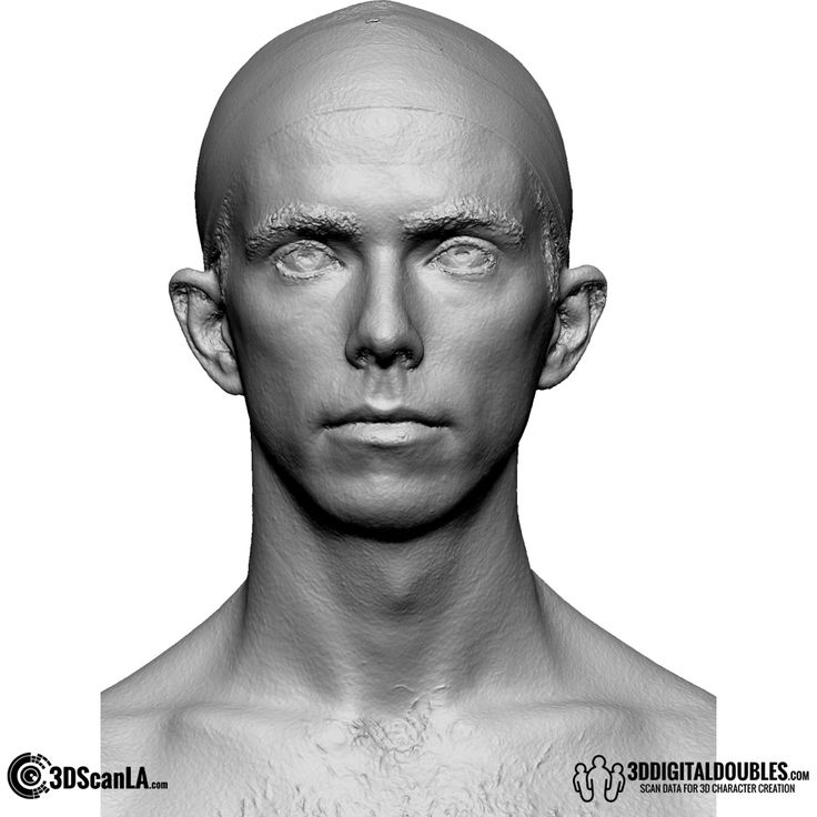 3D Head and Body Scanning for 3D Character Design | 3D Head Scan, 14-02