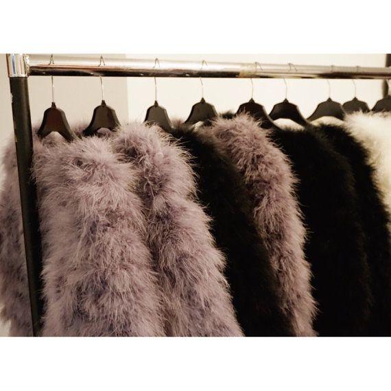Fluffy Feather Jacket Winter Autumn Outerwear by KARIZMAlondon