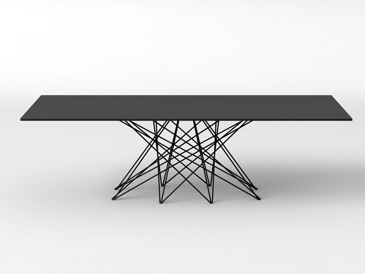 rectangular metal table octa by bonaldo design bartoli. Black Bedroom Furniture Sets. Home Design Ideas