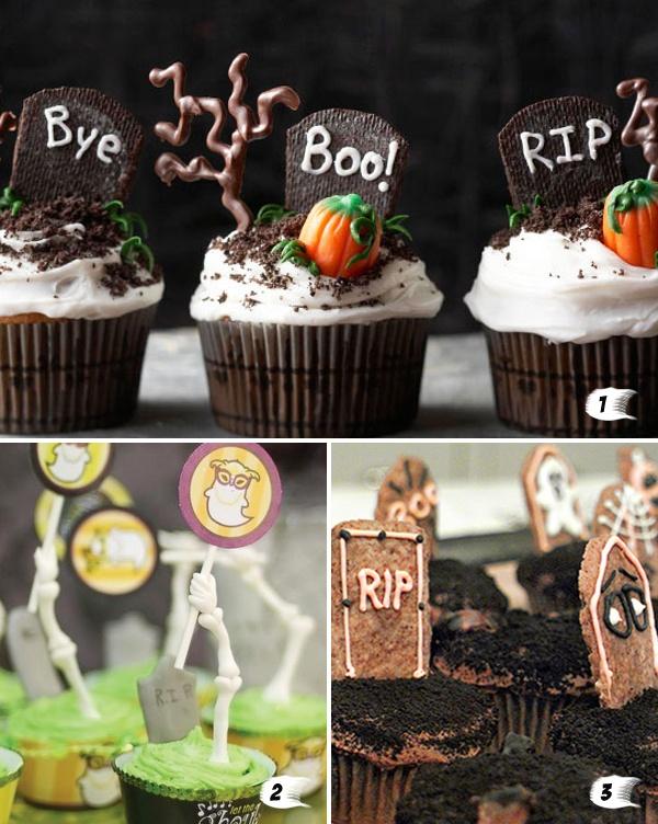 graciosos ejemplos de cupcakes de halloween en blogfiestafacilcom cute halloween - Cute Halloween Cupcake Decorating Ideas