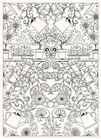 Secret Garden by Johanna Basford i wanna color this and put it on http://kleurvitality.blogspot.be