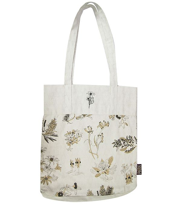 Organic Cotton Botanical Australia Tote Bag $17.95. Pretty organic cream / beige cotton tote bag printed with some of Australia's most famous flower emblems – the Flannel Flower, Waratah, Wattle, Grevillea, Australian Bluebell, Kangaroo Paw, Banksia, Flowering Gum and Sturt Desert Pea and has a plain band with an machine embroidered Flannel Flower at the top. http://www.greengiftsaustralia.com.au/shop/index.php?main_page=product_info&cPath=2_59&products_id=265