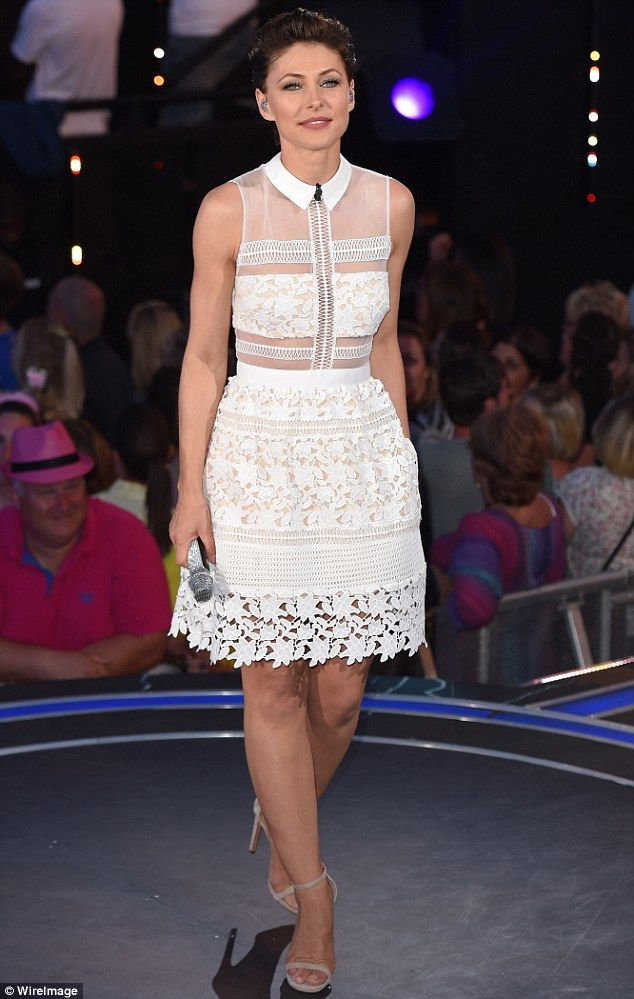 Golden girl: Big Brother host Emma Willis certainly stole the show as the Channel 5 reality series came to an end on Thursday night