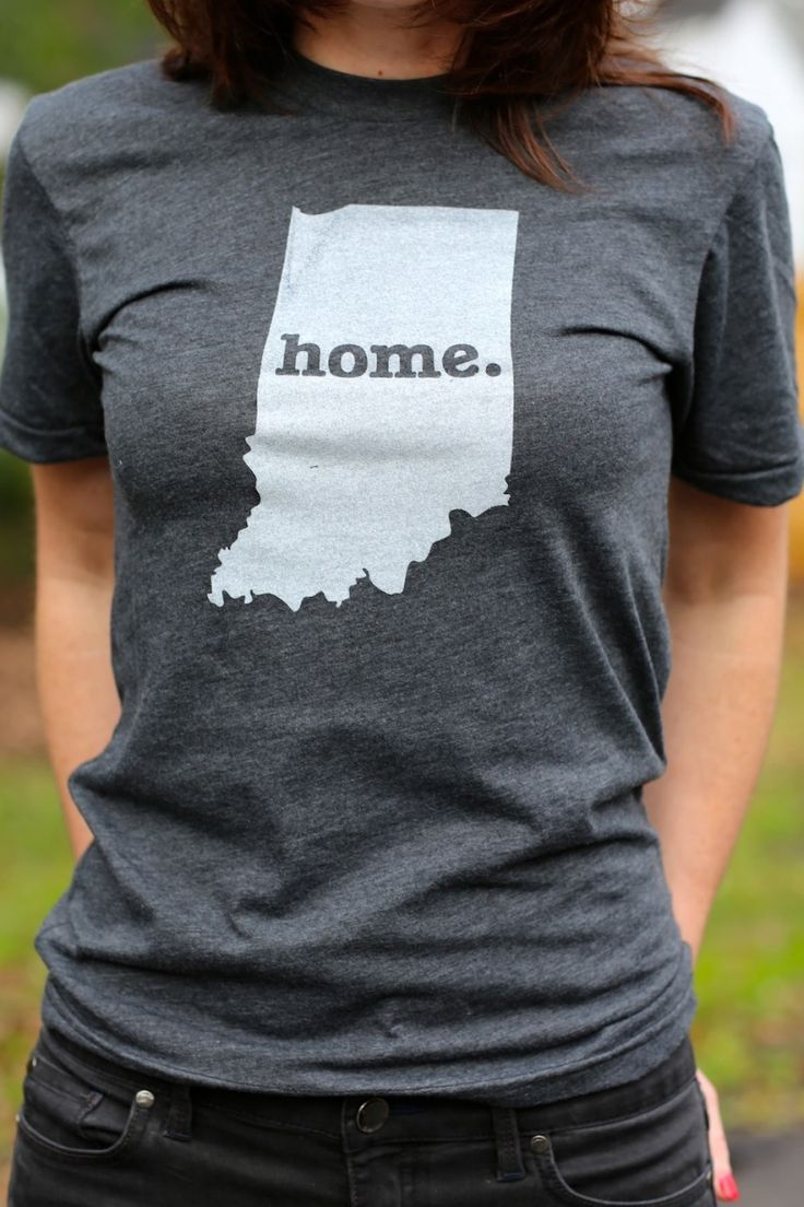 T shirt design evansville indiana - Indiana Home T