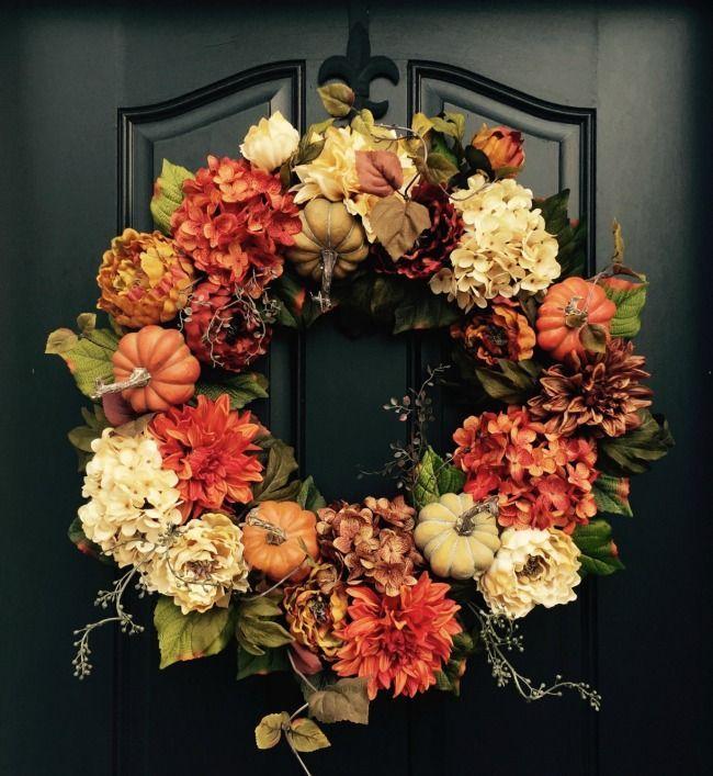 Etsy Fall Wreaths   Autumn Holiday   Laura Trevey