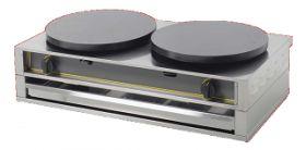 Máquinas de Crepes - Máquina de Crepes Elétrica Dupla 400 ED // Lendas Sublimes - Produtos Gourmet