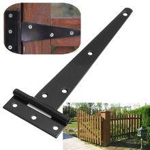 4''6''8''10''12'' Hardware Heavy Wooden Industrial T Hinge Grilled Black Iron Wooden Hinged Light Gates Doors Hinge