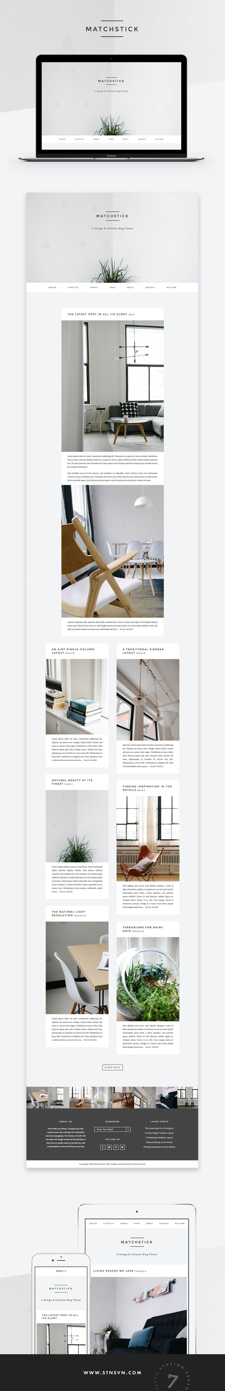 Matchstick is a beautifully simple, masonry WordPress theme that'll impress your readers by Station Seven.