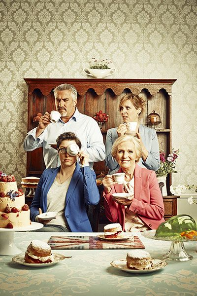 Great British Bake Off: Paul Hollywood, Mary Berry, Sue Perkins  Mel Giedroyc