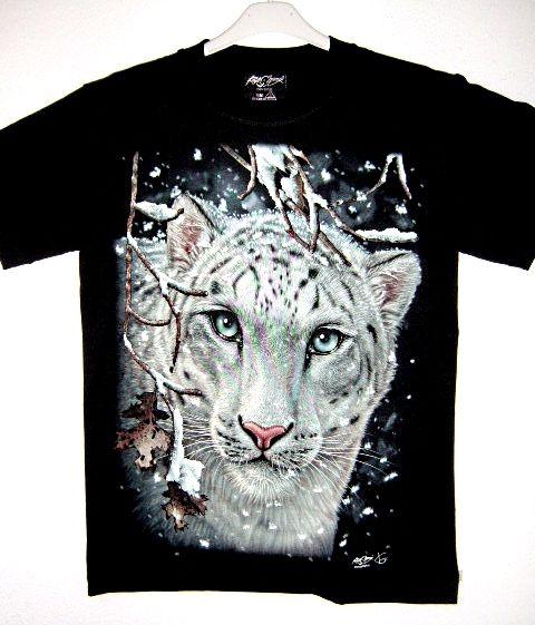 T-shirt leopardo delle nevi