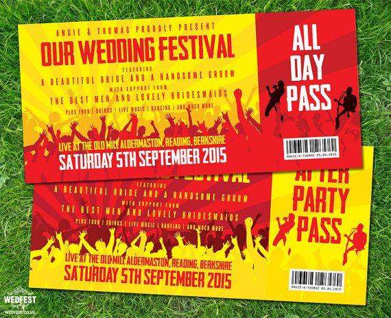 22 best Wedding invites images on Pinterest Bridal invitations - concert ticket invitation template