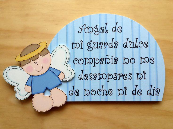 Retablo Angel de la Guarda Niño por Angélica Tamayo