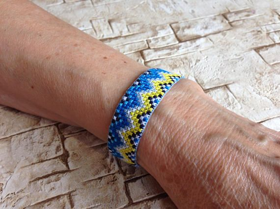 Ukrainian Ukraine Embroidered Bracelet Wristband Armlet Cuff Custom Handmade Adjule Lace