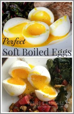 Perfect Soft Boiled Eggs! - www.rubiesandradishes.com