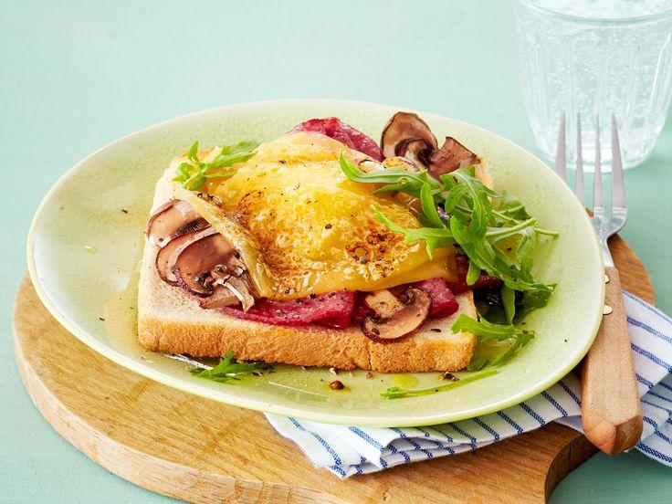 Toast-Rezepte - leicht gemacht, lecker belegt - toast-mit-salami  Rezept