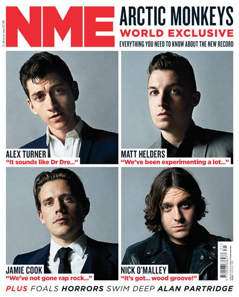 NME Magazine cover, Arctic Monkeys, August 3rd 2013