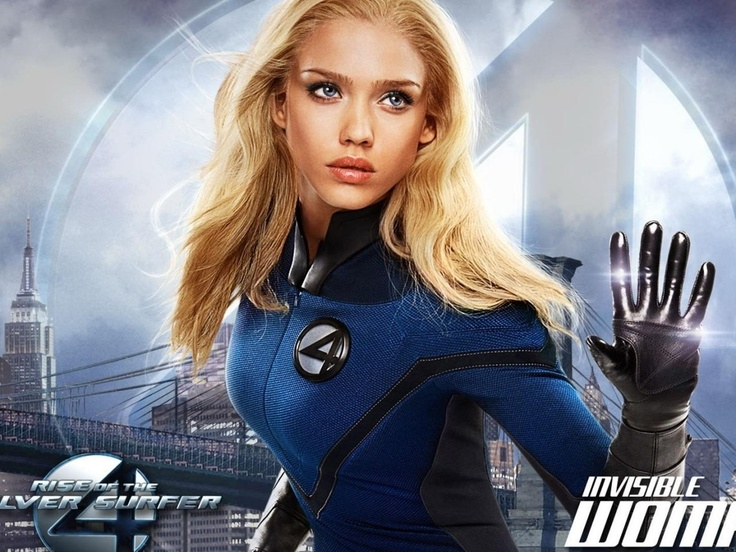 Fantastic Rise Of The Silver Surfer Invisible Woman Susan Storm Sue Susan Storm Richards Invisible Girl Jessica Alba Fantastic Four