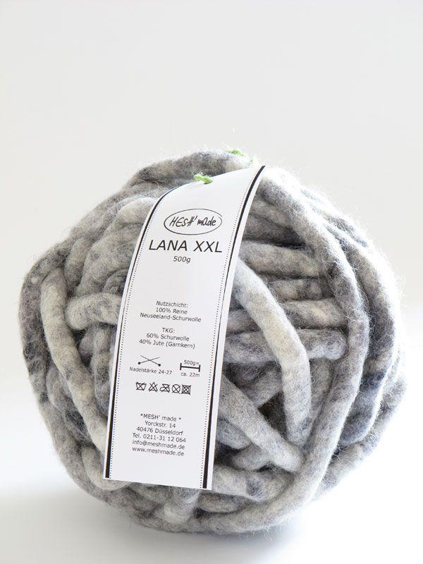 #Knitulator #sammelt #Ideen: Mit gaaanz dickem Garn häkeln und stricken Garn LANA XXL - MESH' made