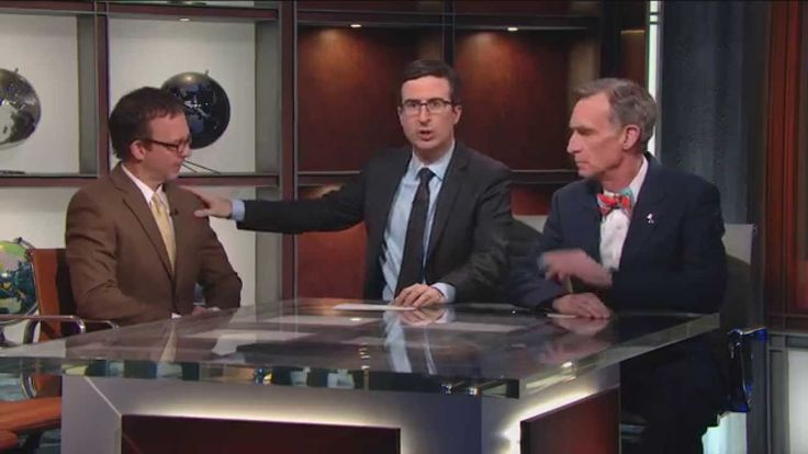 "John Oliver hosts a statistically representative ""debate"" on climate science, as opposed to the more common misleading 50/50 debates. #climatechange #globalwarming"