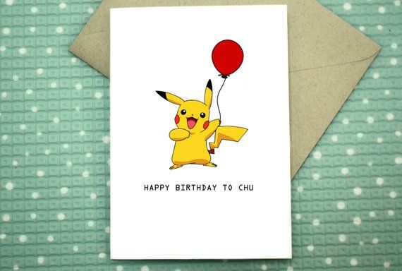 Pokemon Birthday Card