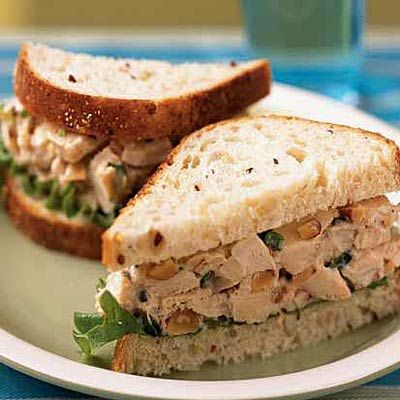 13 easy recipes that use rotisserie chicken: Rosemary Chicken Salad Sandwiches recipe