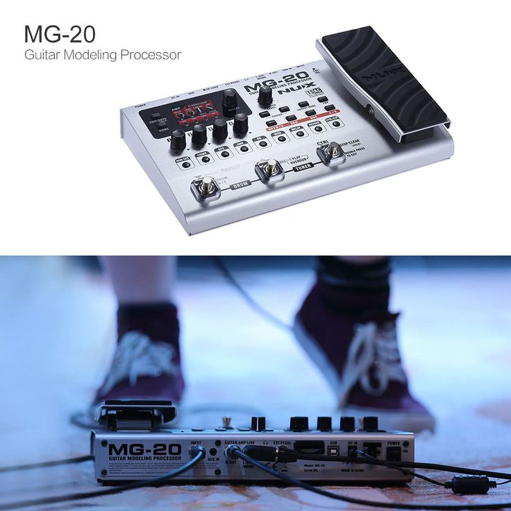 NUX MG-20 Multi-functional Modeling Guitar Processor Electric Sales Online gray - Tomtop.com