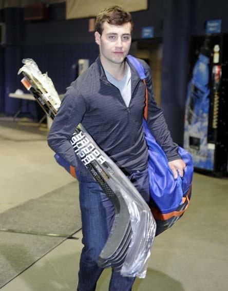 Jordan Eberle leaves the Oilers dressing room. #Oilers