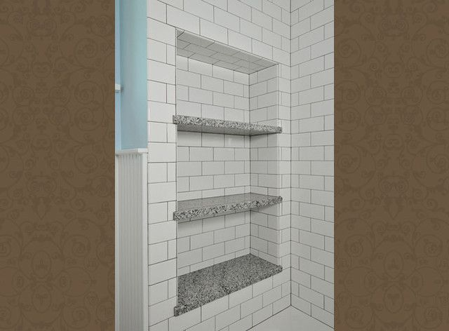 "How to Pick a Shower Niche That's Not Stuck in a Rut  Forget ""standard."" When you're designing a niche, the shelves and spacing have to work for your individual needs"
