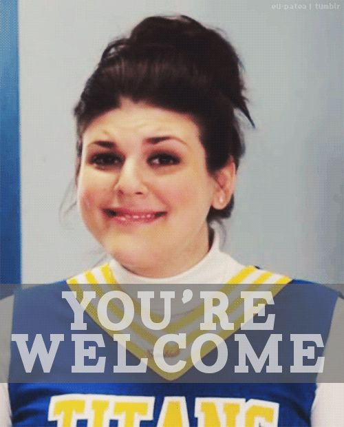 you're welcome. If you watch Awkward on MTV ( which I watch with Tayah! It's our mommy Tay Tay time)  Tay says this all the time just like the actress does!!!!