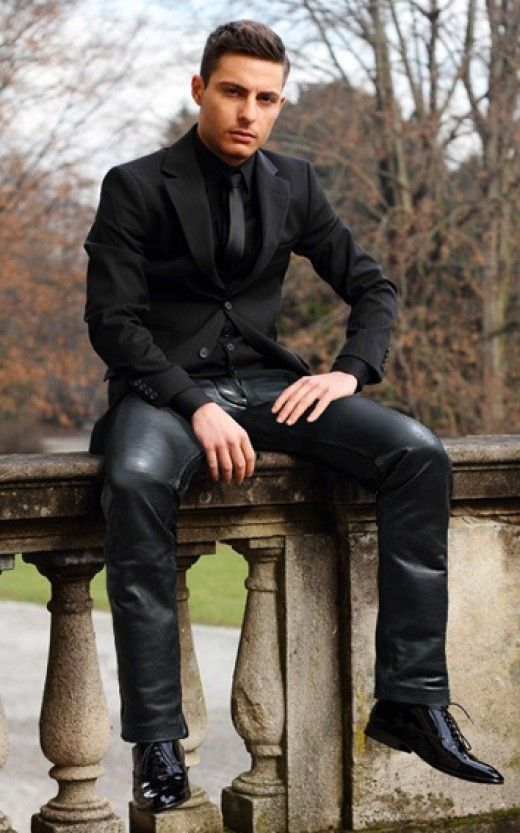 Mens Straight Black Jeans