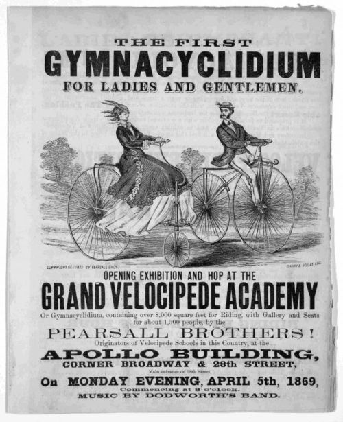 """""""'The first GYMNACYCLIDIUM for Ladies and Gentleman' 1869"""""""