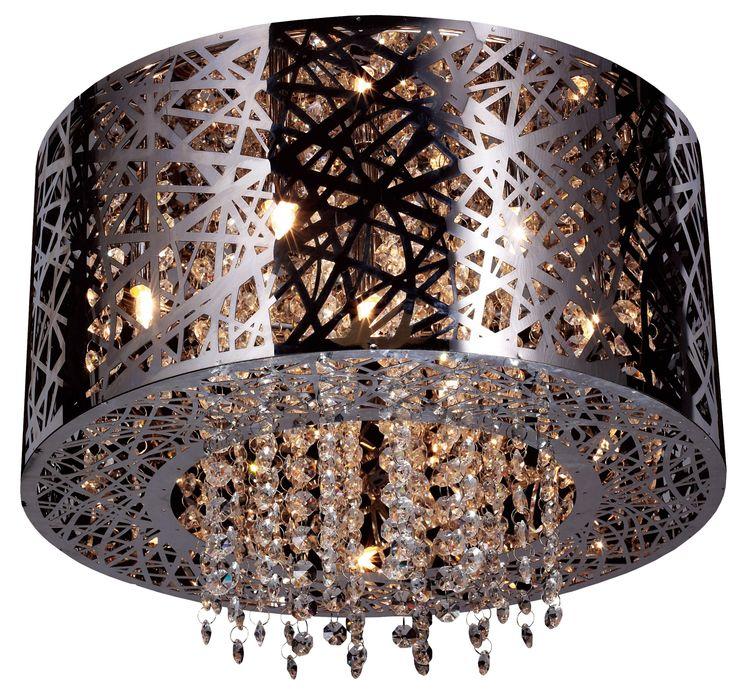 Ekskluzywny, ażurowy plafon wykonany ze stali nierdzewnej ozdobiony kryształkami, stanowi unikatowe i nowoczesne rozwiązanie oświetlenia salonu, jadalni, kuchni, czy też sypialni oraz przedpokoju, zarówno w eleganckim w stylu glamour jak i w minimalistycznym, skandynawskim klimacie. Zuma Line Bella