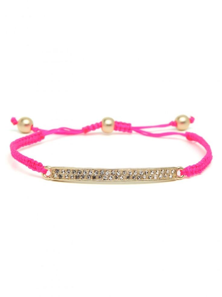 Neon gem bracelet