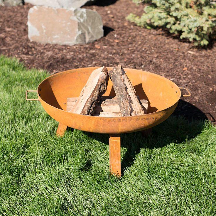 Sunnydaze Rustic Cast Iron Fire Pit Bowl Wood Fire Pit Fire Pit Landscaping Fire Pit Accessories