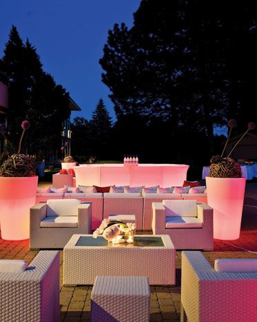Beautiful Chic Outdoor Lounge Seating Work Events