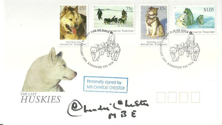 Charlie Chester signature on FDC number 4 of just 10 produced