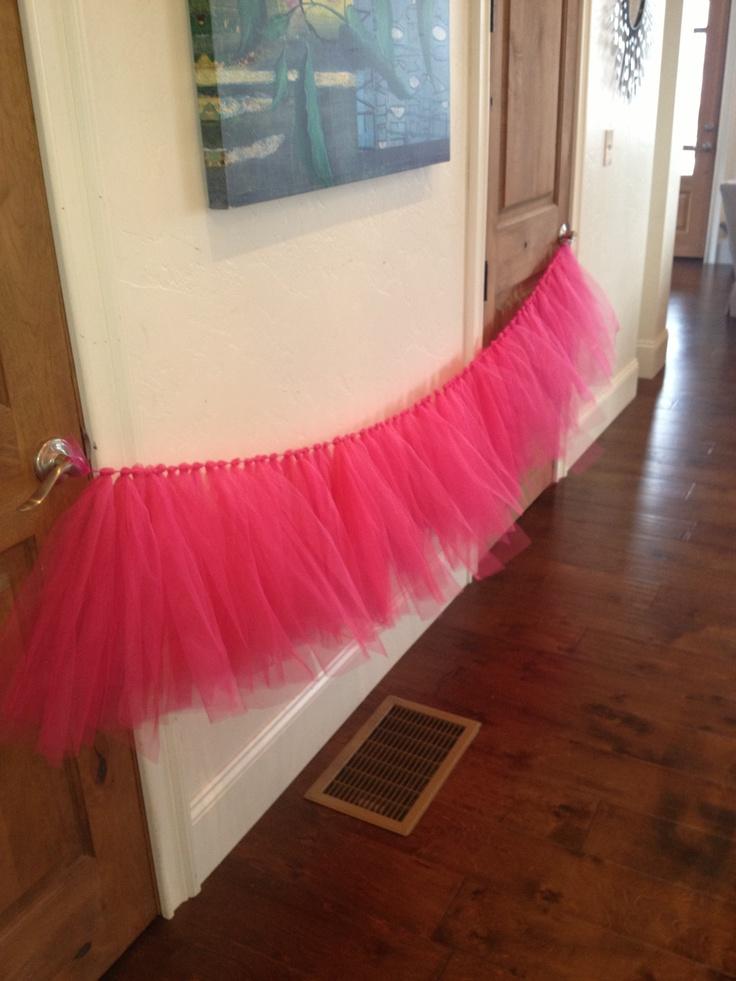 Tulle crib skirt for my sister