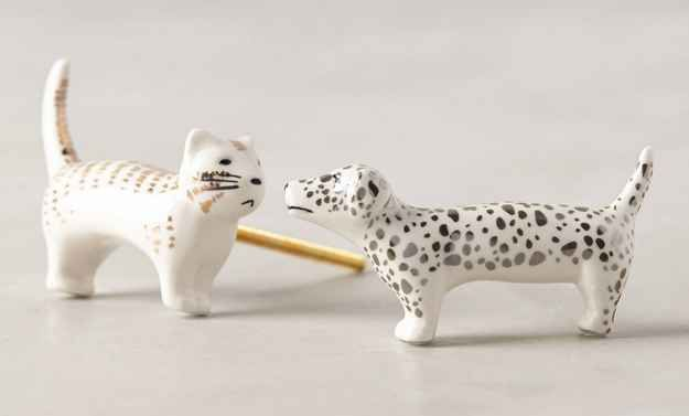 Knobs for cat people and dog lovers.