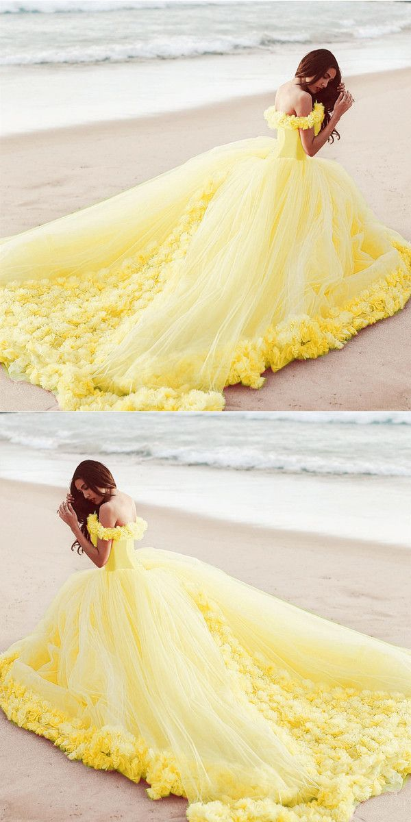 Flowers And Tulle Quinceanera Dresses Ball Gowns Off Shoulder In