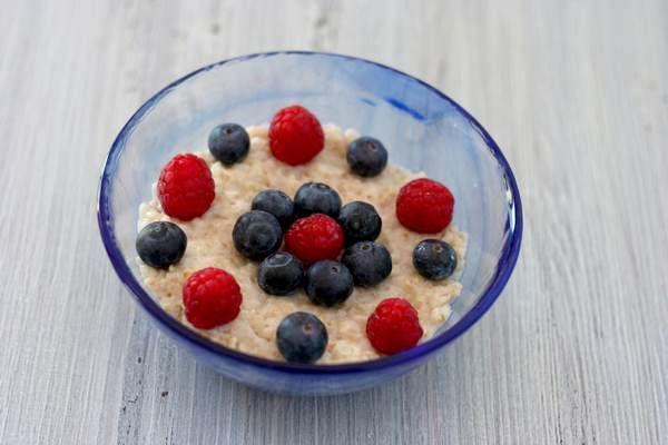 porridge mirtilli lamponi