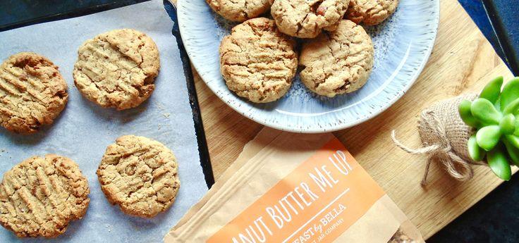 Flourless Salted Peanut Butter Crunch Cookies