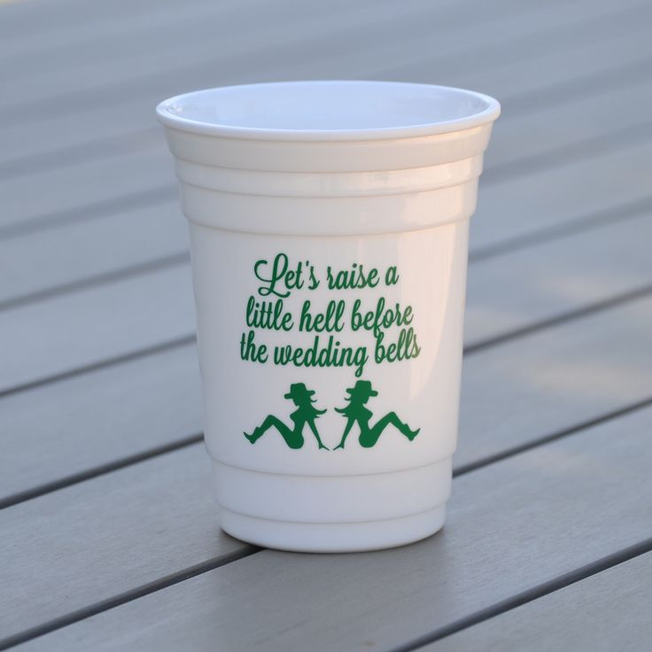 Cowgirl bachelorette party cup Bachelorette party favor Country bachelorette Personalized reusable solo cup / Let's raise a little hell by BluePenguinShop on Etsy https://www.etsy.com/listing/202097145/cowgirl-bachelorette-party-cup