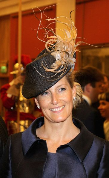 Sophie Countess of Wessex's decorative hat has some serious height on one side