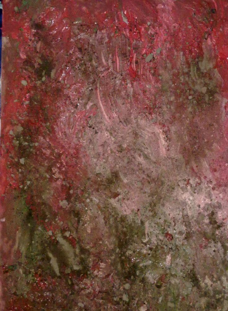 """Daniel Thalheim, """"Broken"""", Acryl & Dust on Canvas, 2013/11/23 (Privatbesitz)"""