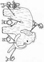 Colorear los hombres de Cro-Magnon a la caza del mamut