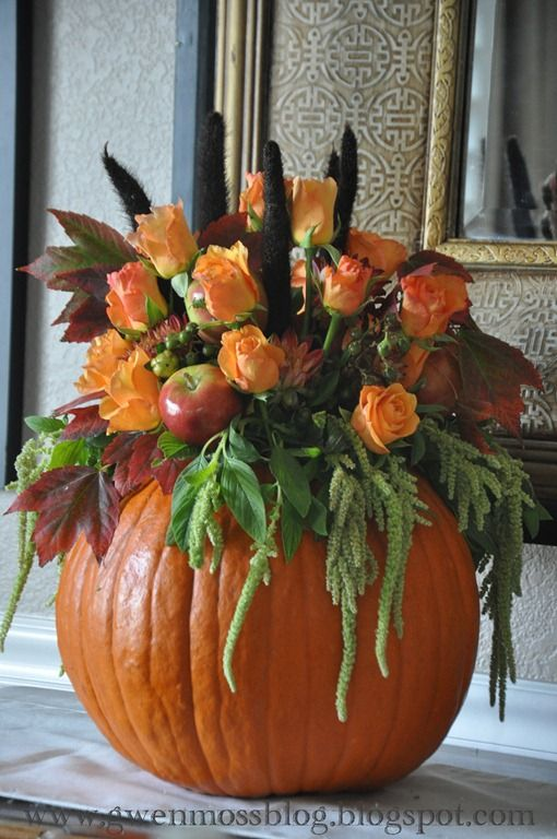 How to make a beautiful pumpkin centerpiece!