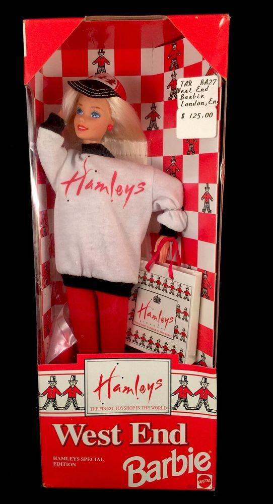 Vintage Hamley's Toy Store West End Barbie Doll Foreign Issued 1995 Mattel NRFB #Mattel #DollswithClothingAccessories