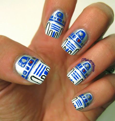 The Lighter Side of the Force: 24 Cute Star Wars Nail Designs | 13 of 24