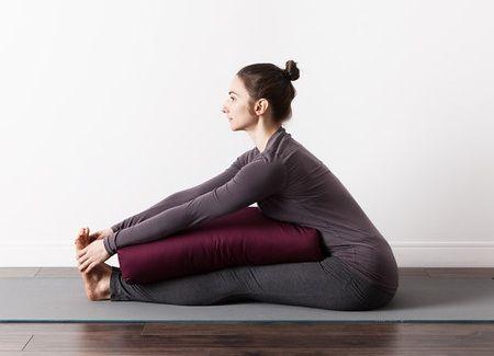 deep plum yoga bolster  yoga bolster halfmoon yoga