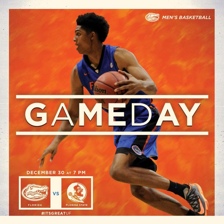 It's gameday! #Gators vs. Seminoles tonight at 7 PM on ESPN2. #ItsGreatUF #LoveFL